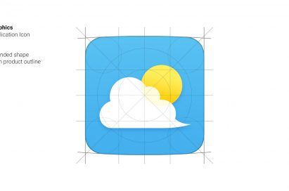 The Weather App icon with new, rounded shape of the LG G5 GUI