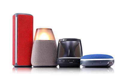 A collection of LG Bluetooth speakers