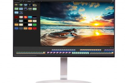 Front view of LG's HDR-compatible 32-inch UHD 4K monitor (model 32UD99)