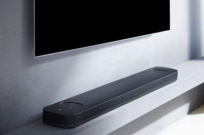 Side view of LG SoundBar model SJ9