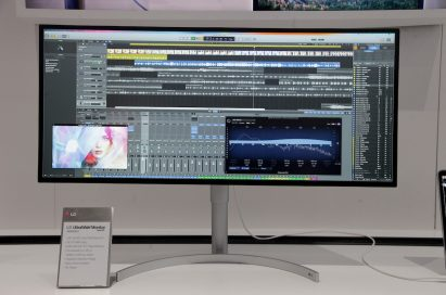 Front view of LG's 21:9 UltraWide Monitor