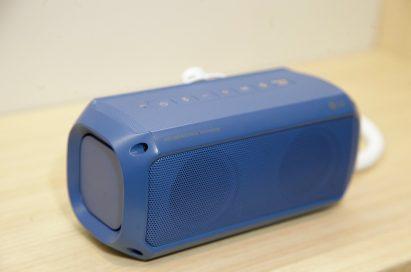 Upper side view of LG's water-resistant Portable Speaker