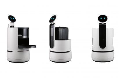 Image of CLOi robot lineup: Serving Robot, Porter Robot and Shopping Cart Robot
