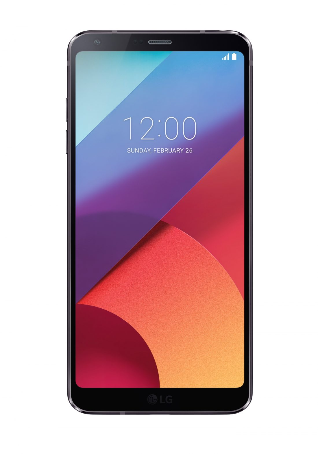 Front view of the LG G6 phone