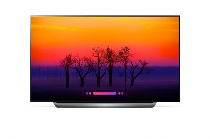 Front view of the AI-enabled LG OLED C8