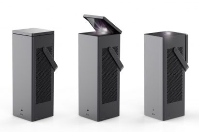 A front view of LG's CineBeam 4K Lasers.
