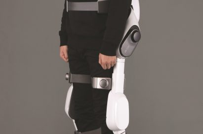 Side profile of man wearing LG CLOi SuitBot