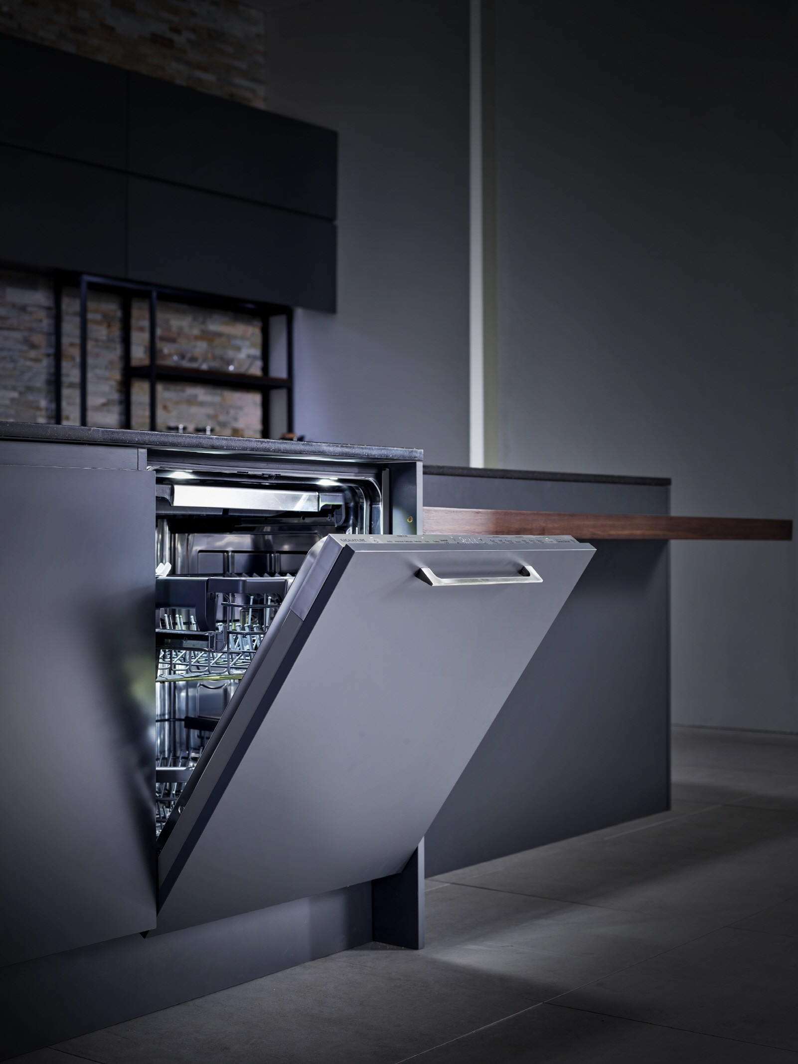SIGNATURE KITCHEN SUITE dishwasher with slightly door open