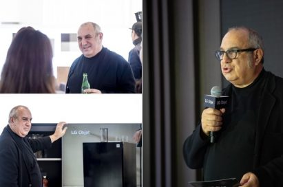 Italian industrial designer Stefano Giovannoni discusses the design of the LG Objet lineup at its public event