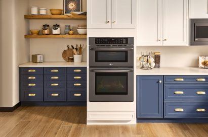 Kitchen wall featuring LG's combination wall oven
