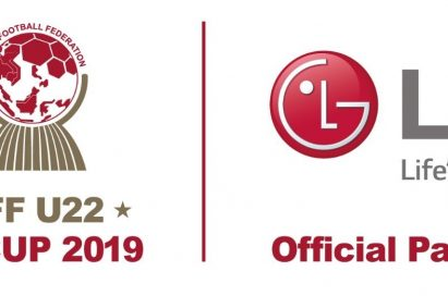 The official logo of the ASEAN Football Federation U-22 Championship on the left and the logo of LG Electronics on the right
