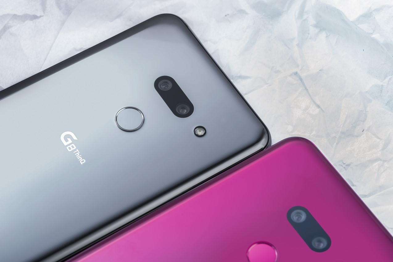 The final rear side design of the LG G8 ThinQ that eliminated the protruded area of cameras module for its minimal profile