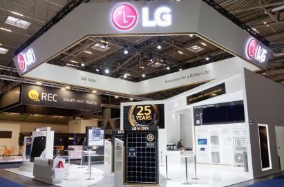 An outside view of LG's booth at Intersolar Europe 2019