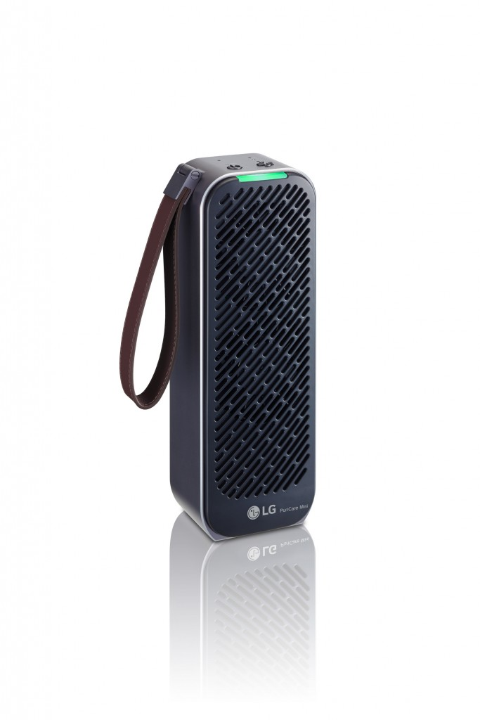 Side view of LG PuriCare Mini in black color