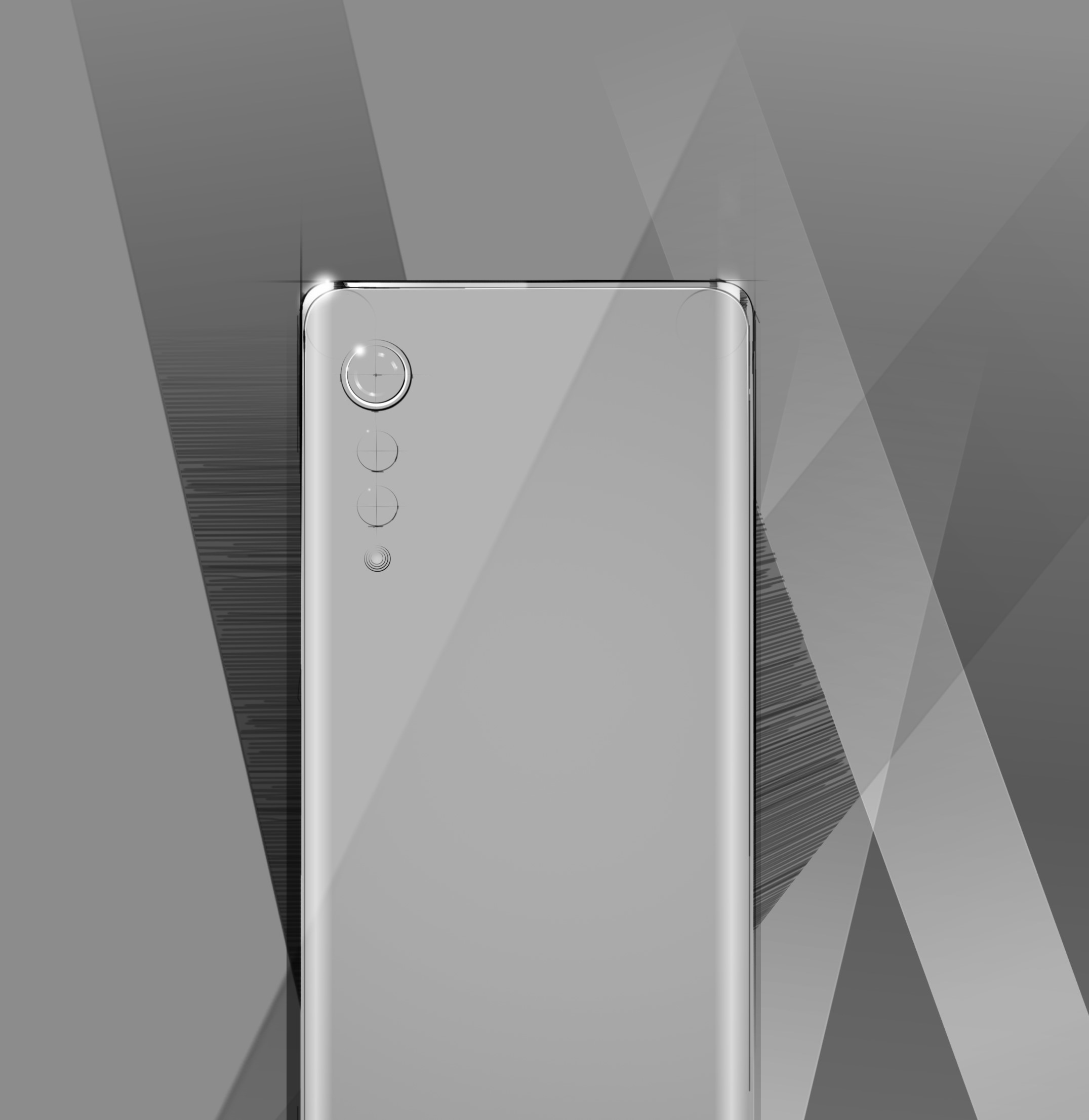 Render image of LG's upcoming flagship smartphone in white