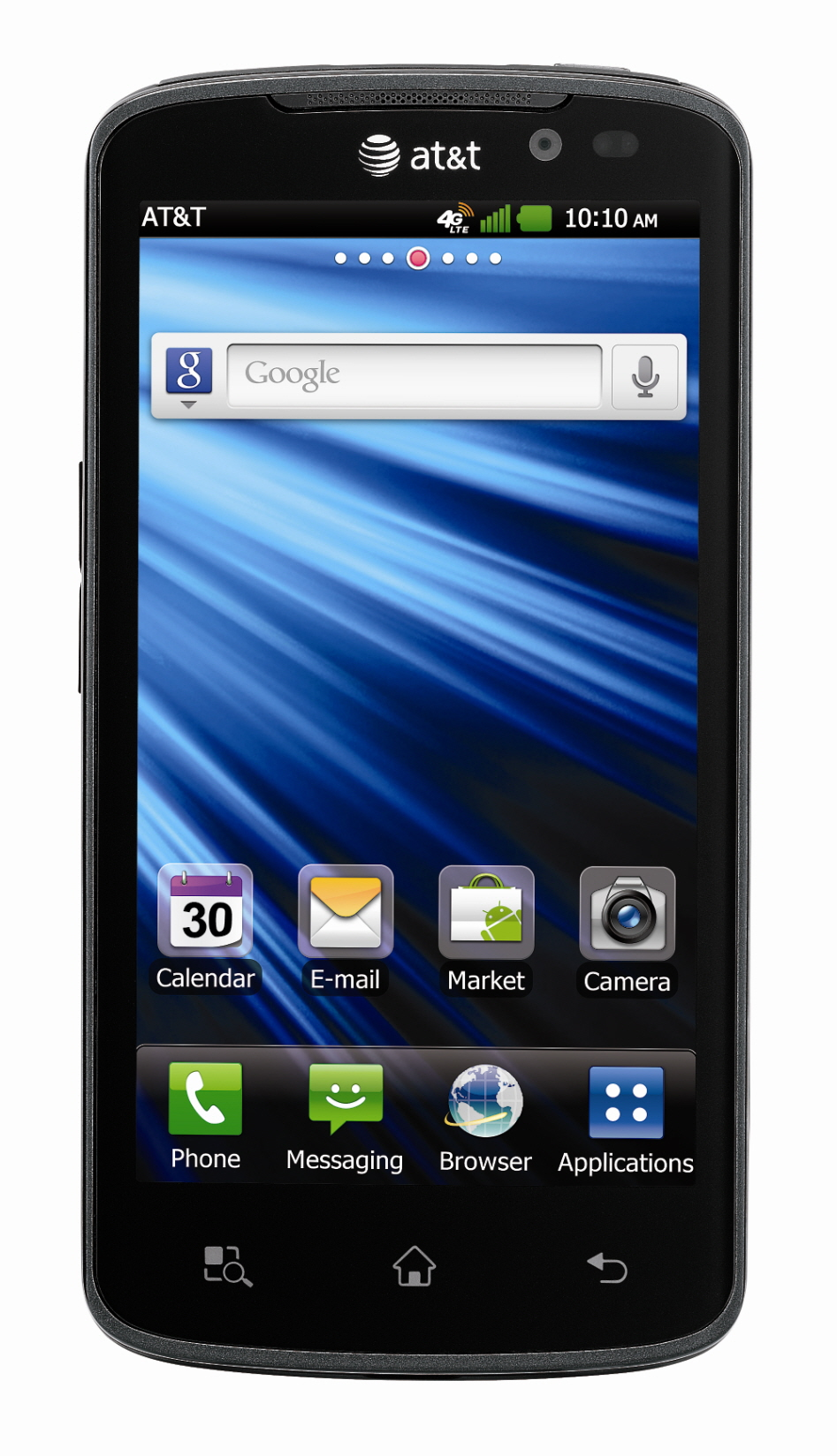 Front view of LG Nitro HD