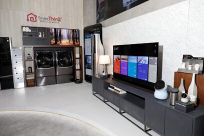 Inside view of the Smart ThinQ demonstration zone at LG's CES 2017 booth