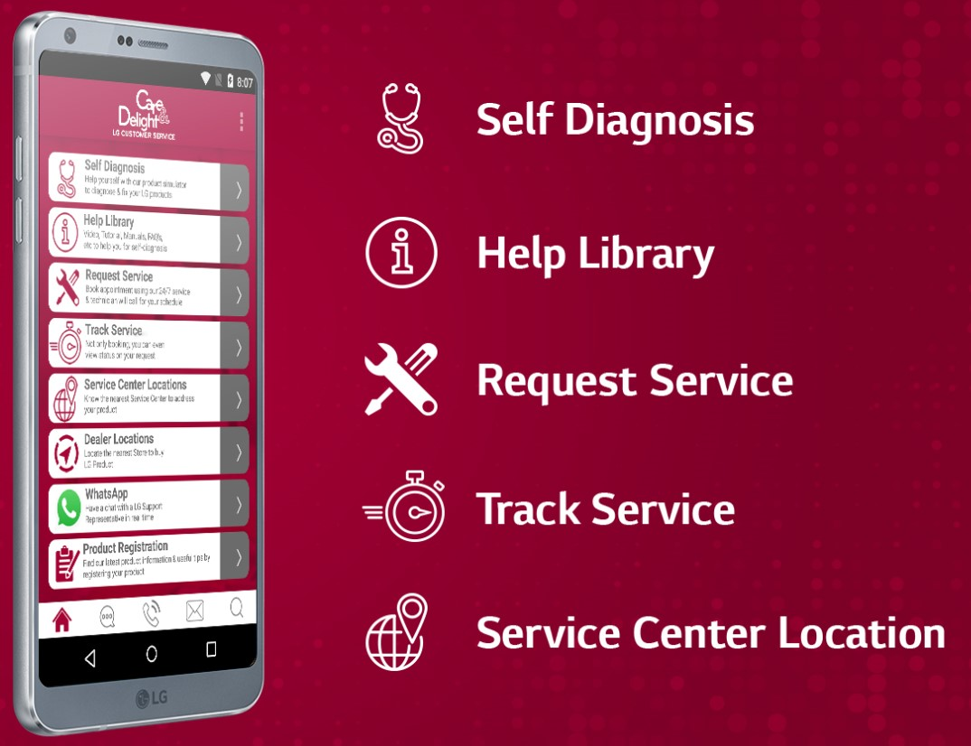 LG's newly launched AI-based customer service, Proactive Customer Care