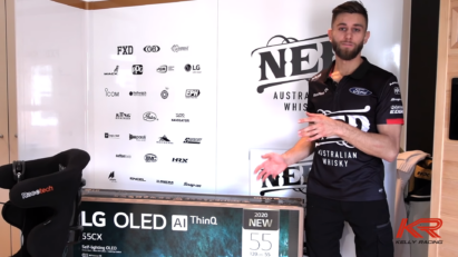 Andre Heimgartner of the Kelly Racing Team explains how LG OLED TV model 55CX helps him become a better racer during virtual racing contests