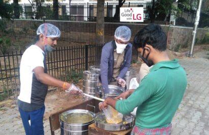 The Akshaya Patra Foundation, an Indian NGO, providing food for those in need