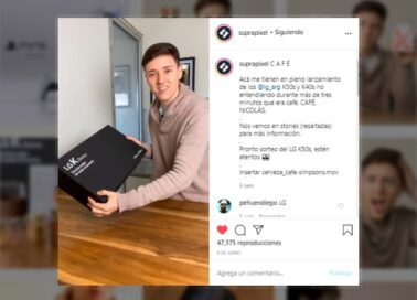 Tech content creator Suprapixel's Instagram post showing off the LG K Series box he just received in the mail