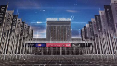 A second screenshot from the welcoming video on LG's IFA 2020 information portal, which relays important up-to-date information on its virtual exhibition
