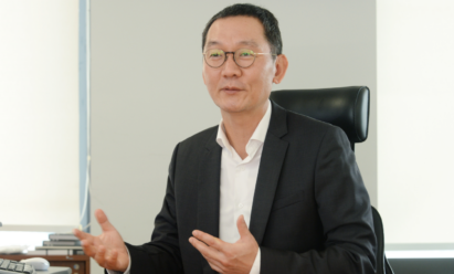 Kim Jin-hong, head of LG Electronics' Global Marketing Center, discusses untact marketing during an interview