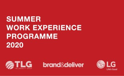 Poster for the summer work experience programme held by LG and its partners