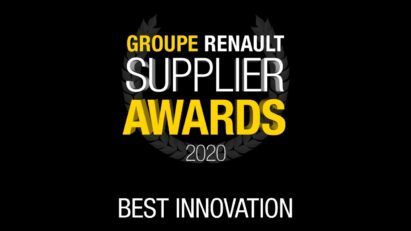Logo of the first-ever virtual 2020 Renault Supplier Awards for Best Innovation