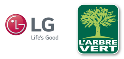 The logos of LG Electronics and L'Arbre Vert