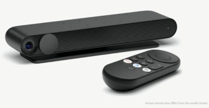 The Portal TV box with its remote control.