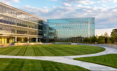 A closer look at the buildings within the LG North American headquarters campus in New Jersey
