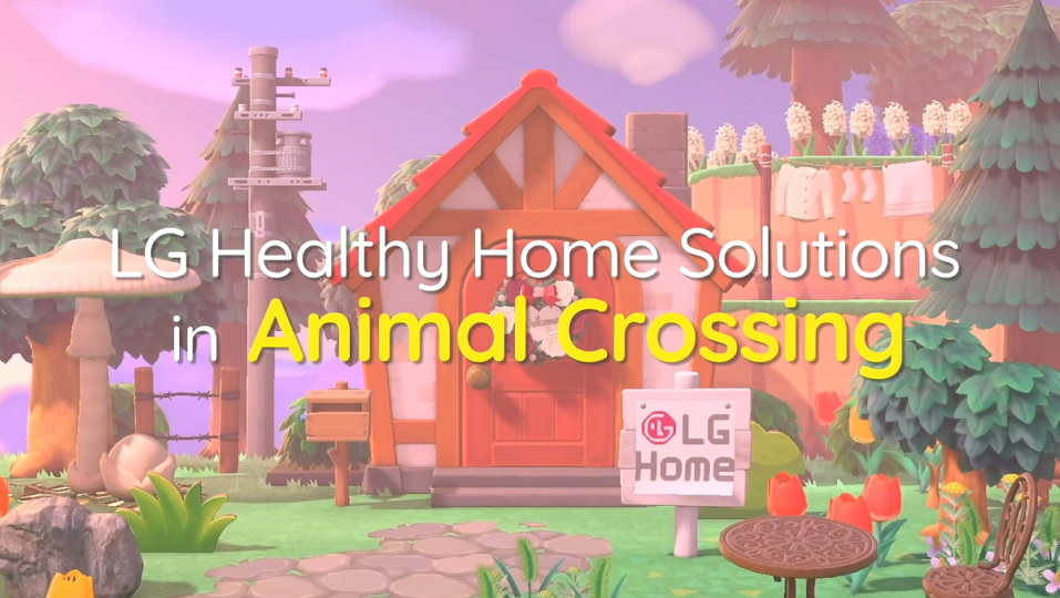 A photo of the LG Home Island landscape in the game 'Animal Crossing the Horizon'.