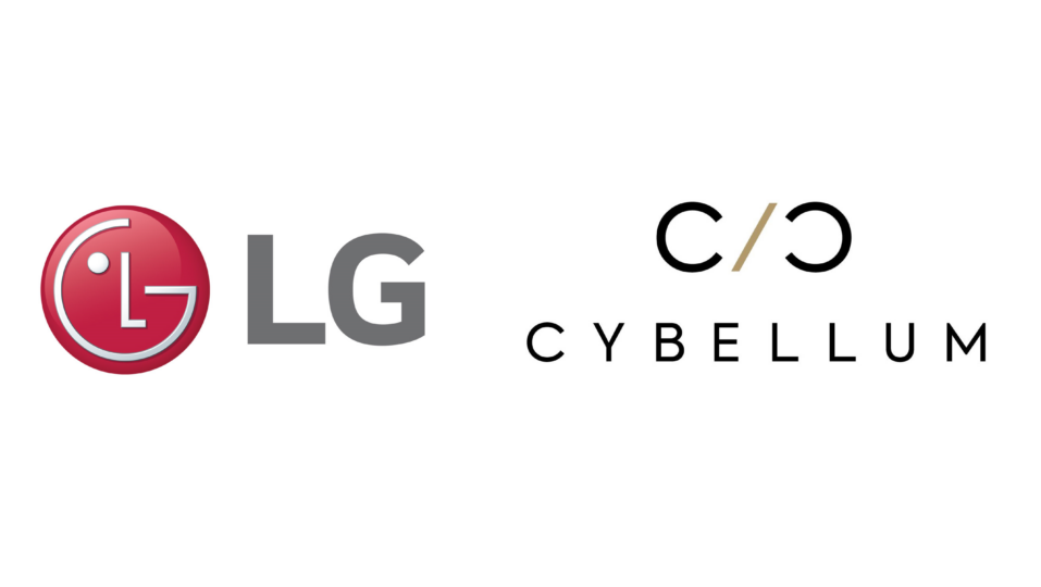 LG logo and Cybellum logo